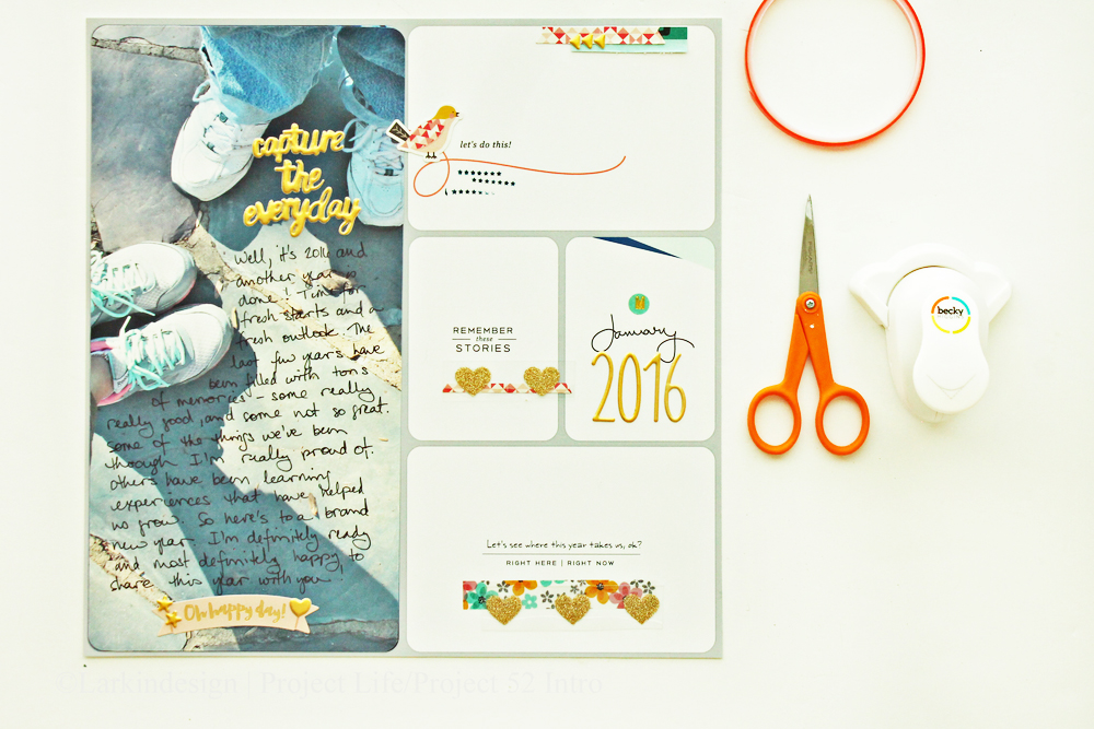 Project Life 2016 Introduction Layout Using Project 52