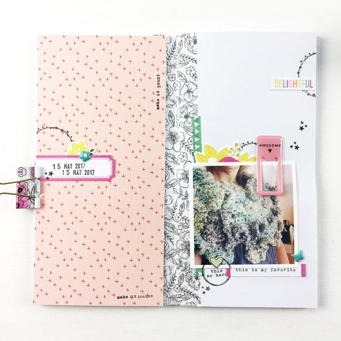 Larkindesign Traveler's Notebook | Favorite Things ft Gossamer Blue