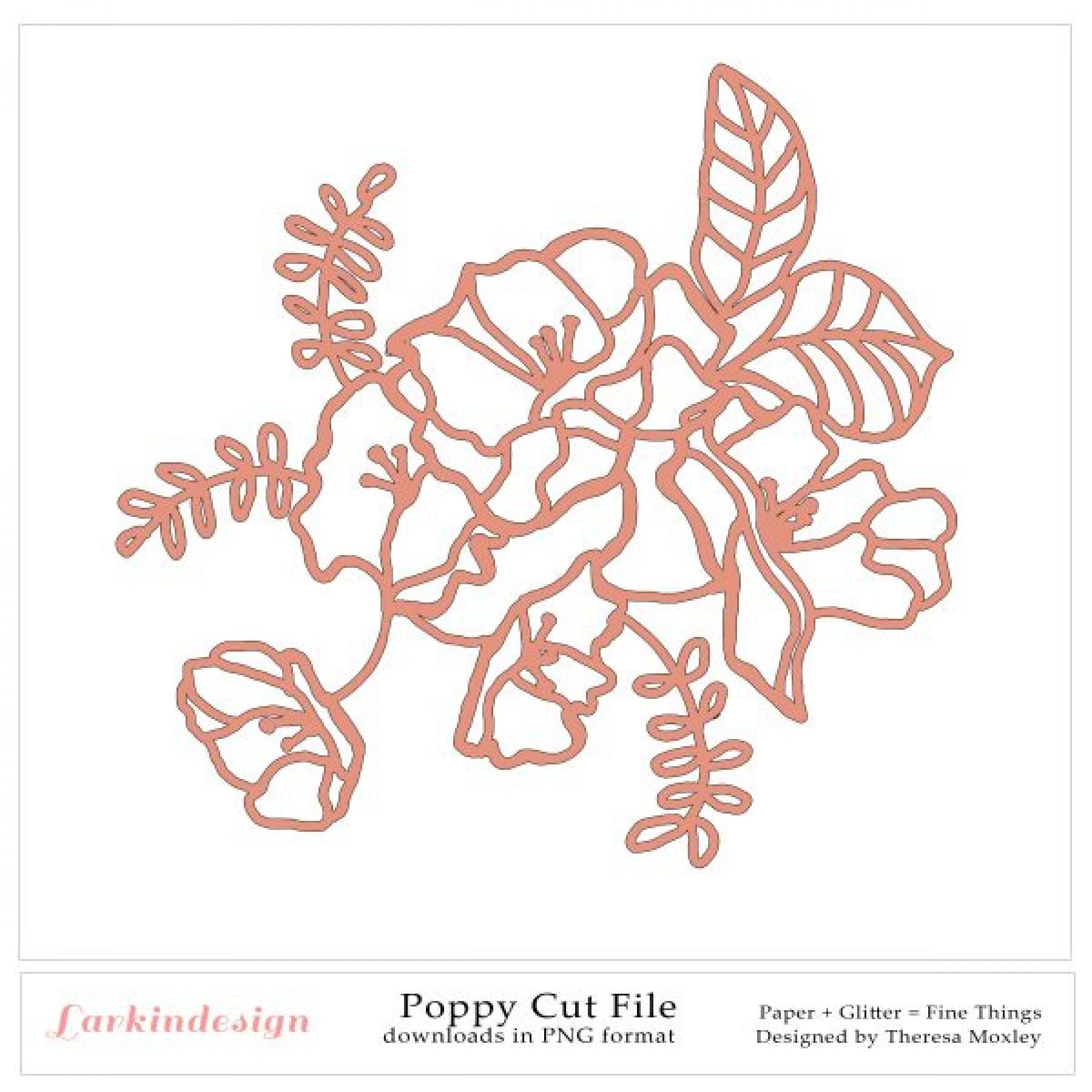 Poppy Digital Cut File
