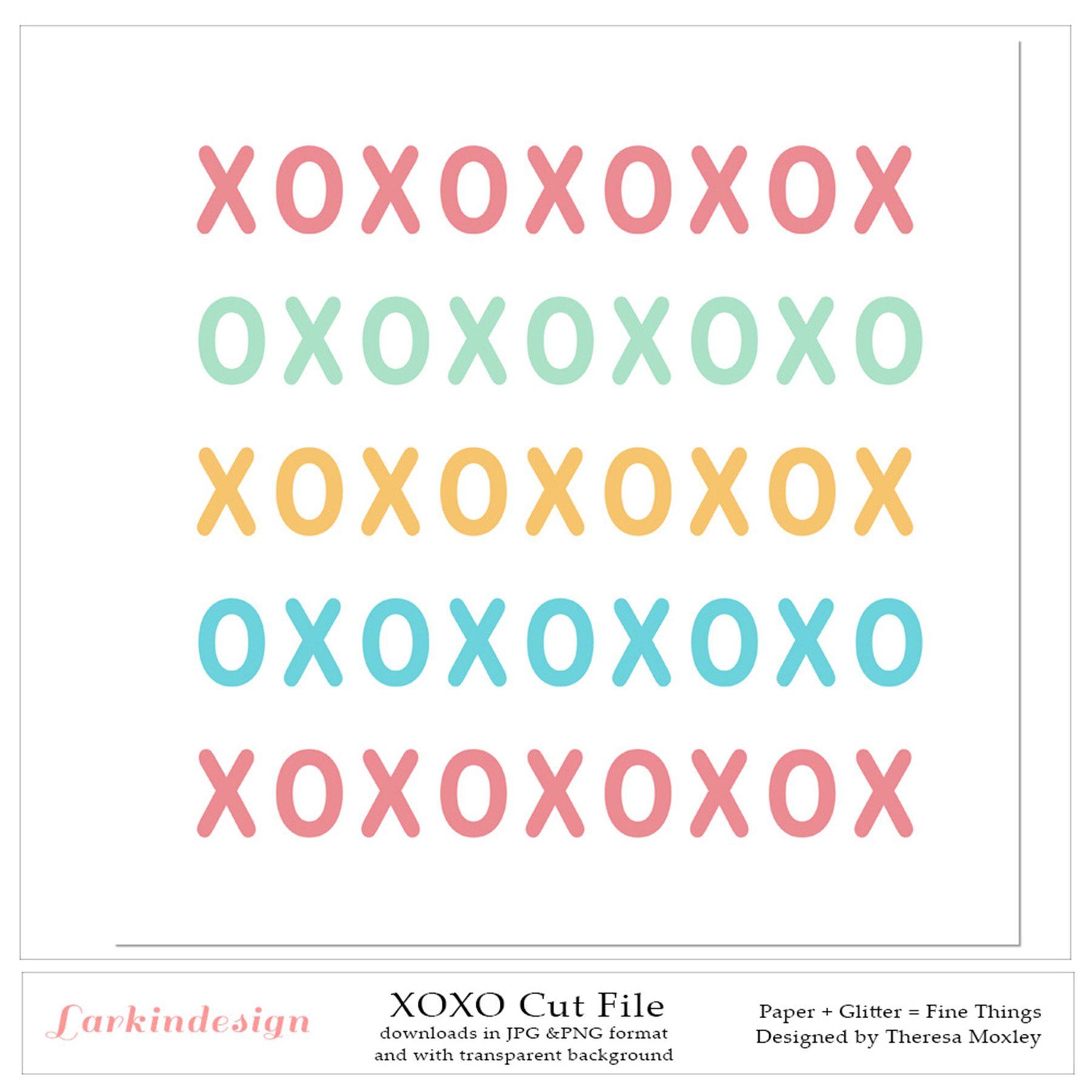 XOXO Digital Cut File