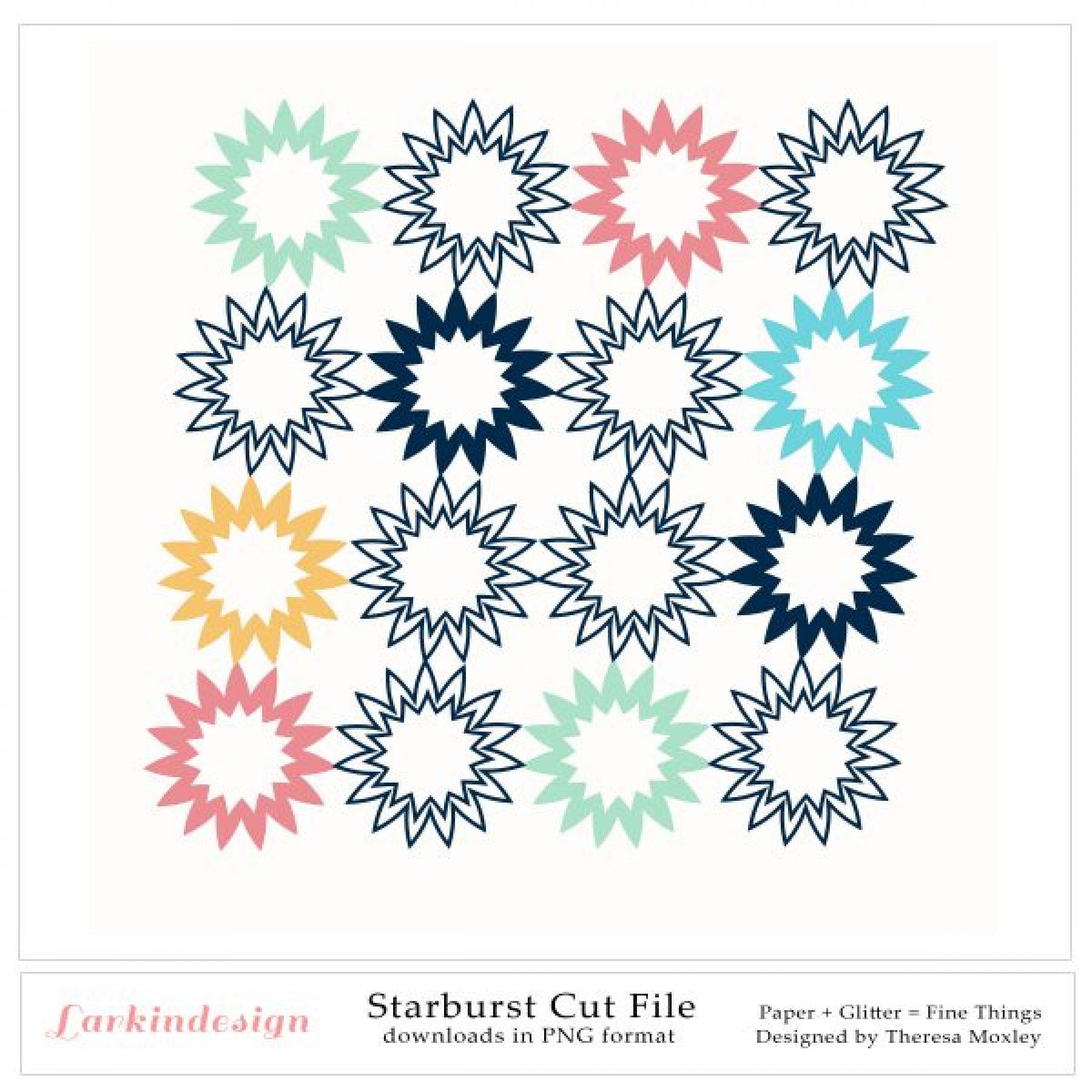 Starburst Digital Cut File