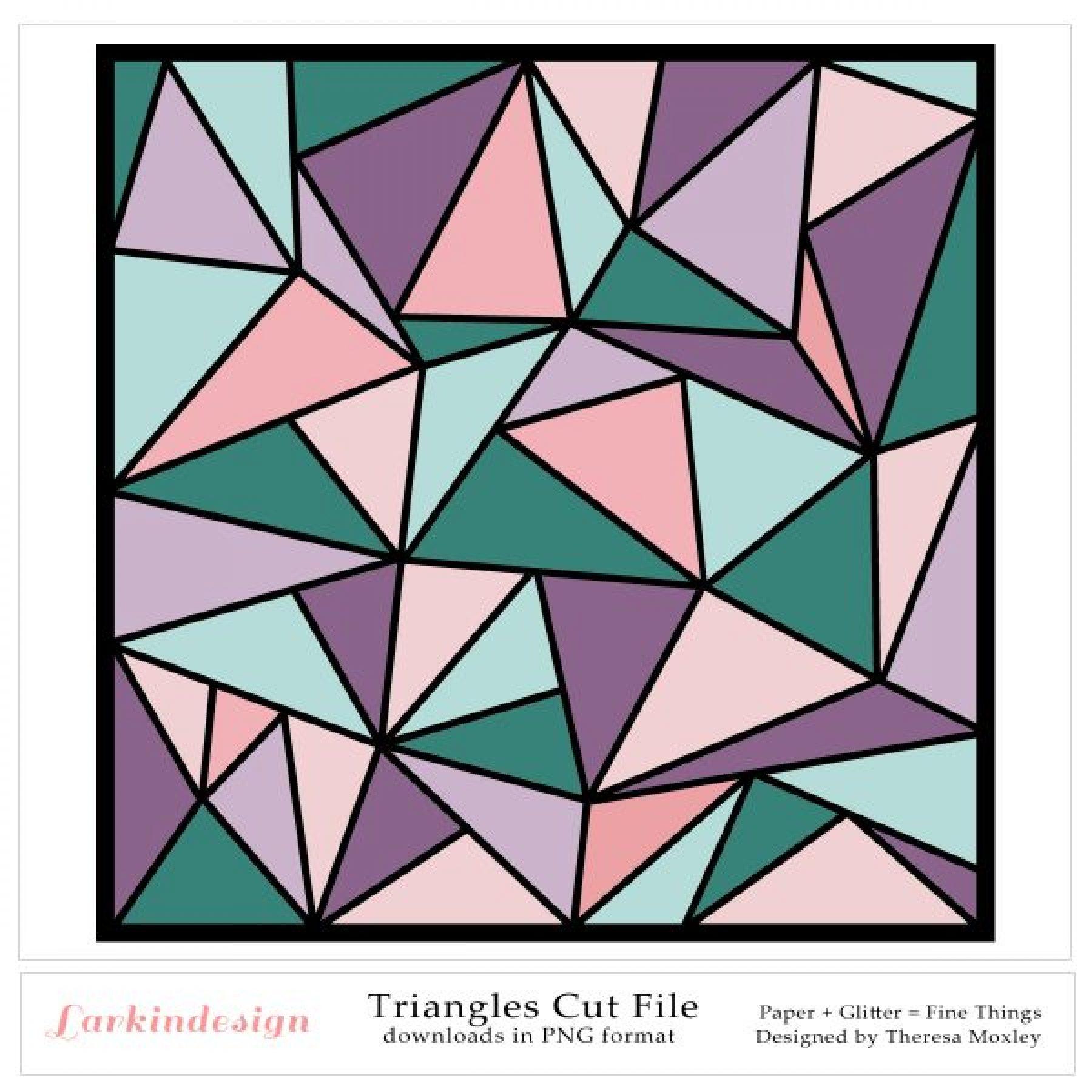 Triangles Digital Cut File