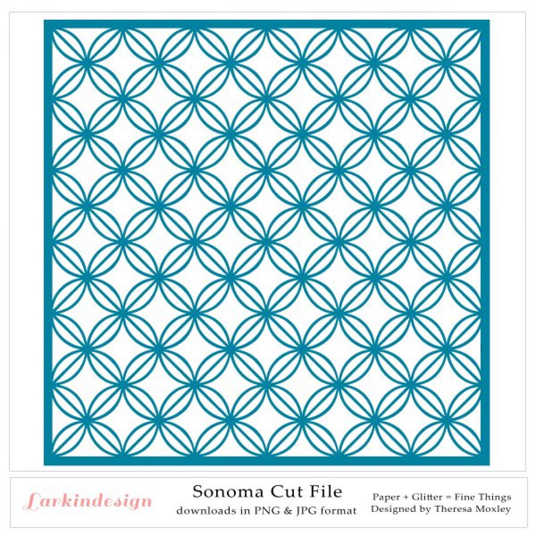 Larkindesign Sonoma Digital Cut File