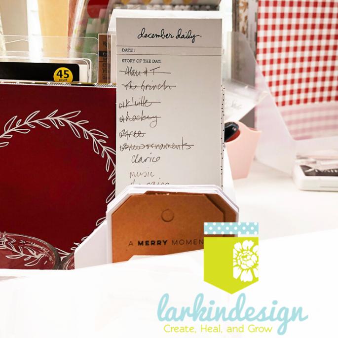 Larkindesign December Daily 2019 Organization and Desk Storage