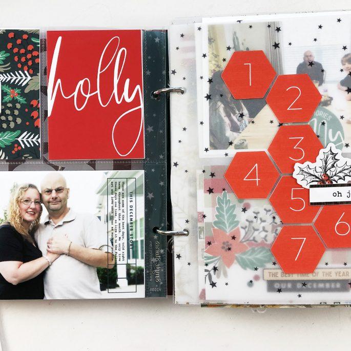 Larkindesign December Daily 2019 Day 01 ft. Sahlin Studio Holly Days