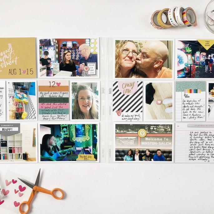 Larkindesign Project Life 2019 | August Bi Monthly | ft Studio Calico