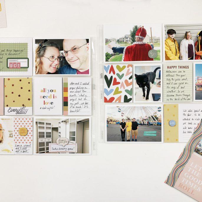 Larkindesign Project Life 2019 | October Bi Monthly Layout No 02 | Ft Studio Calico
