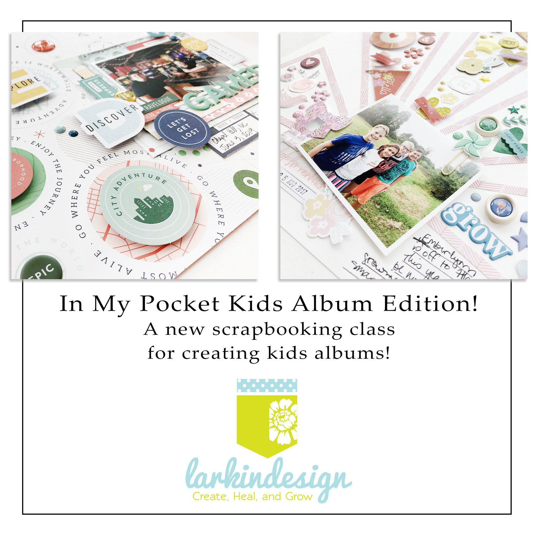 In My Pocket Kids Album Edition Memory Keeping Class