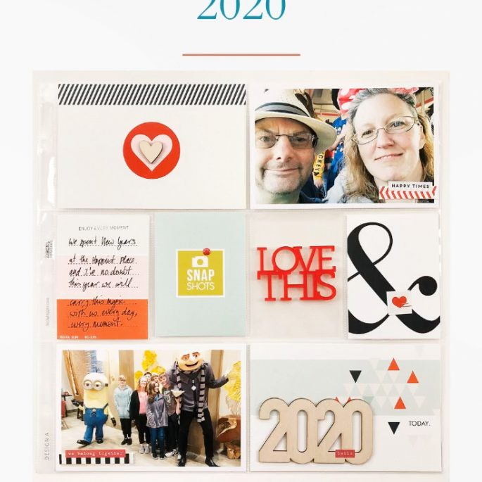 Larkindesign Project Life 2020 Introduction | Ft Sahlin Studio Melon Sorbet