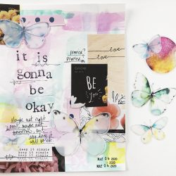 Paint, stencil, and collage provide creative meditation exercises to help process memories and keep grounded.