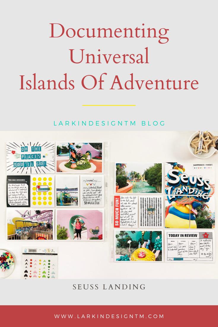 Larkindesign Disney 2020 Scrapbook Album   Documenting Universal   Seuss Landing