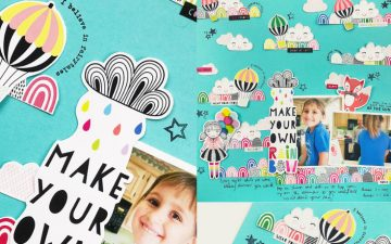 Larkindesign Kids Scrapbook Album Project   Natalie Edition Make Your Own Rainbow