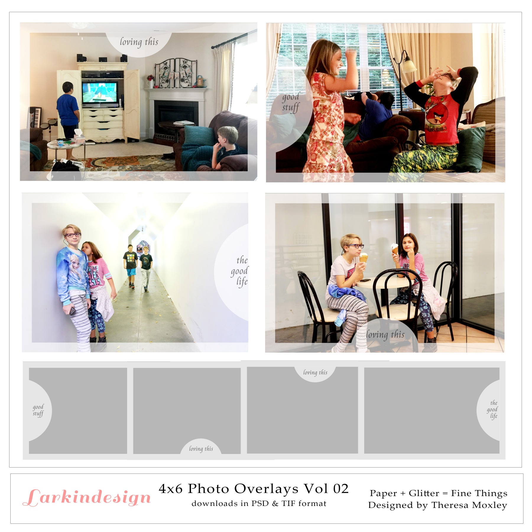 12x12 4x6 Photo Overlays Vol 02 Preview IMG