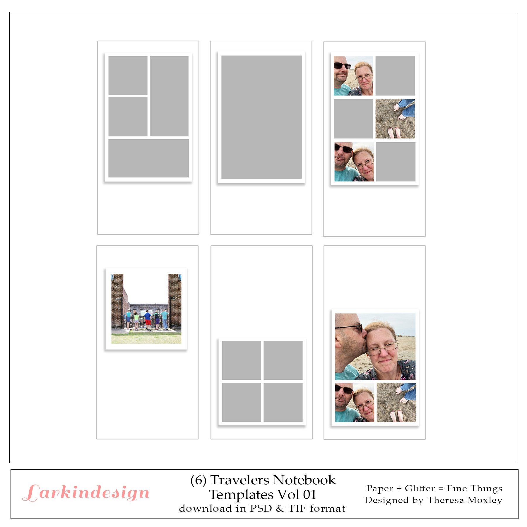Larkindesign Traveler's Notebook Photo Templates Volume 01