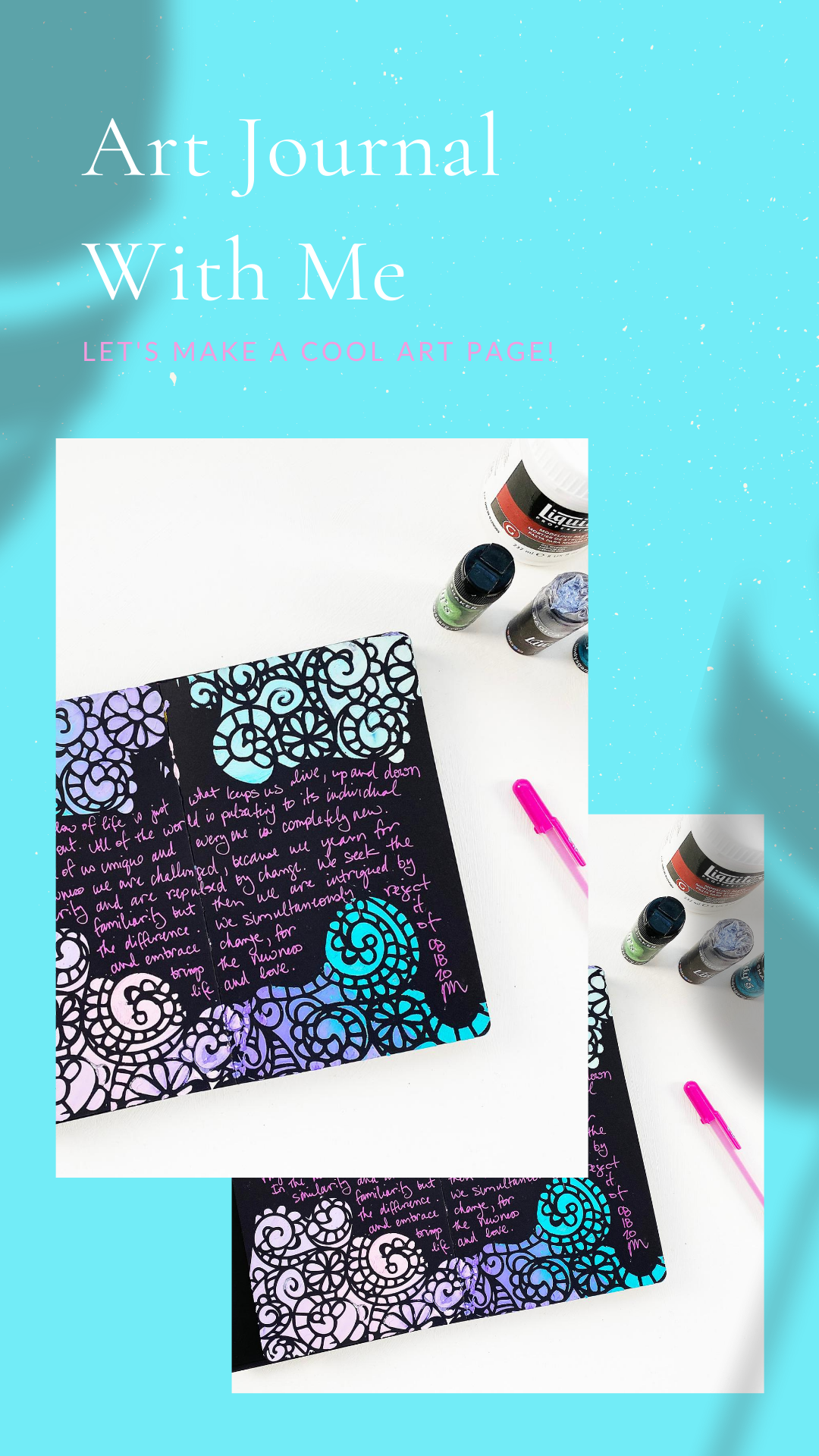 Light The Path Art Journal With Me | New Dina Wakley Black Art Journal