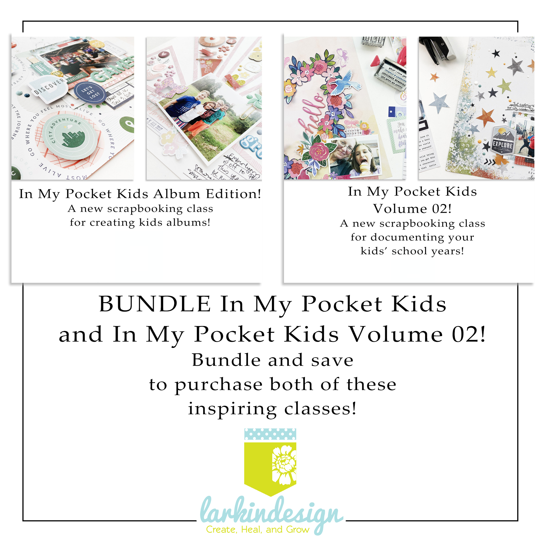Class Bundle: In My Pocket Kids Album Edition And Volume 02 Memory Keeping Class