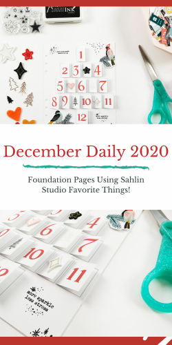 Theresa Moxley December Daily 2020 | Foundation Pages Using Sahlin Studio Favorite Things