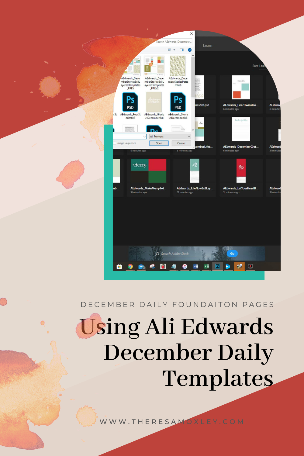 December Daily 2020 Ways To Use Ali Edwards Templates In Hybrid Layouts
