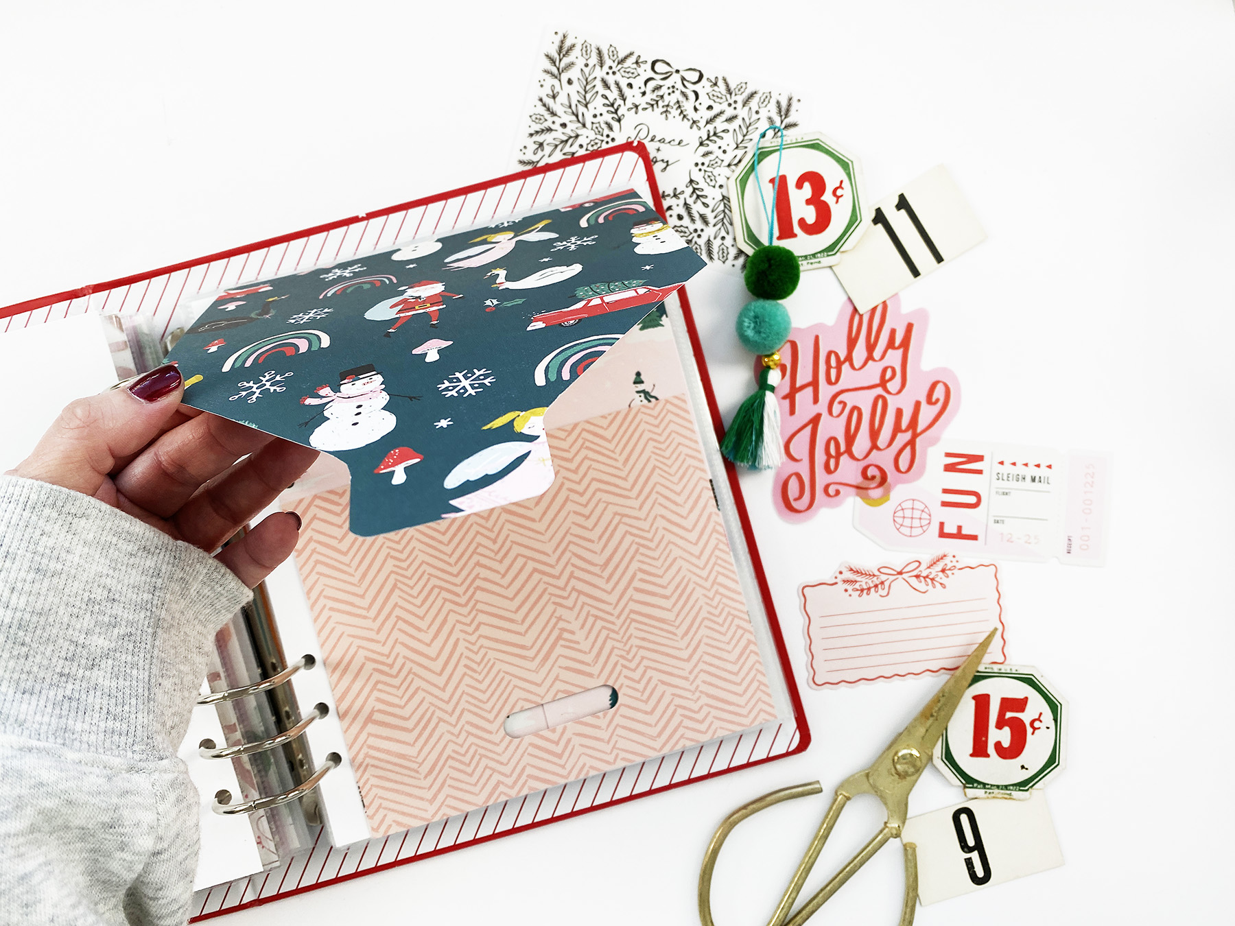 Theresa Moxley December Daily 2020   Foundation Pages Ft Crate Paper Hey Santa