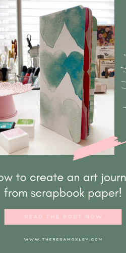 Art Journal With Me | How To Create a Simple Art Journal Using Scrapbook Paper