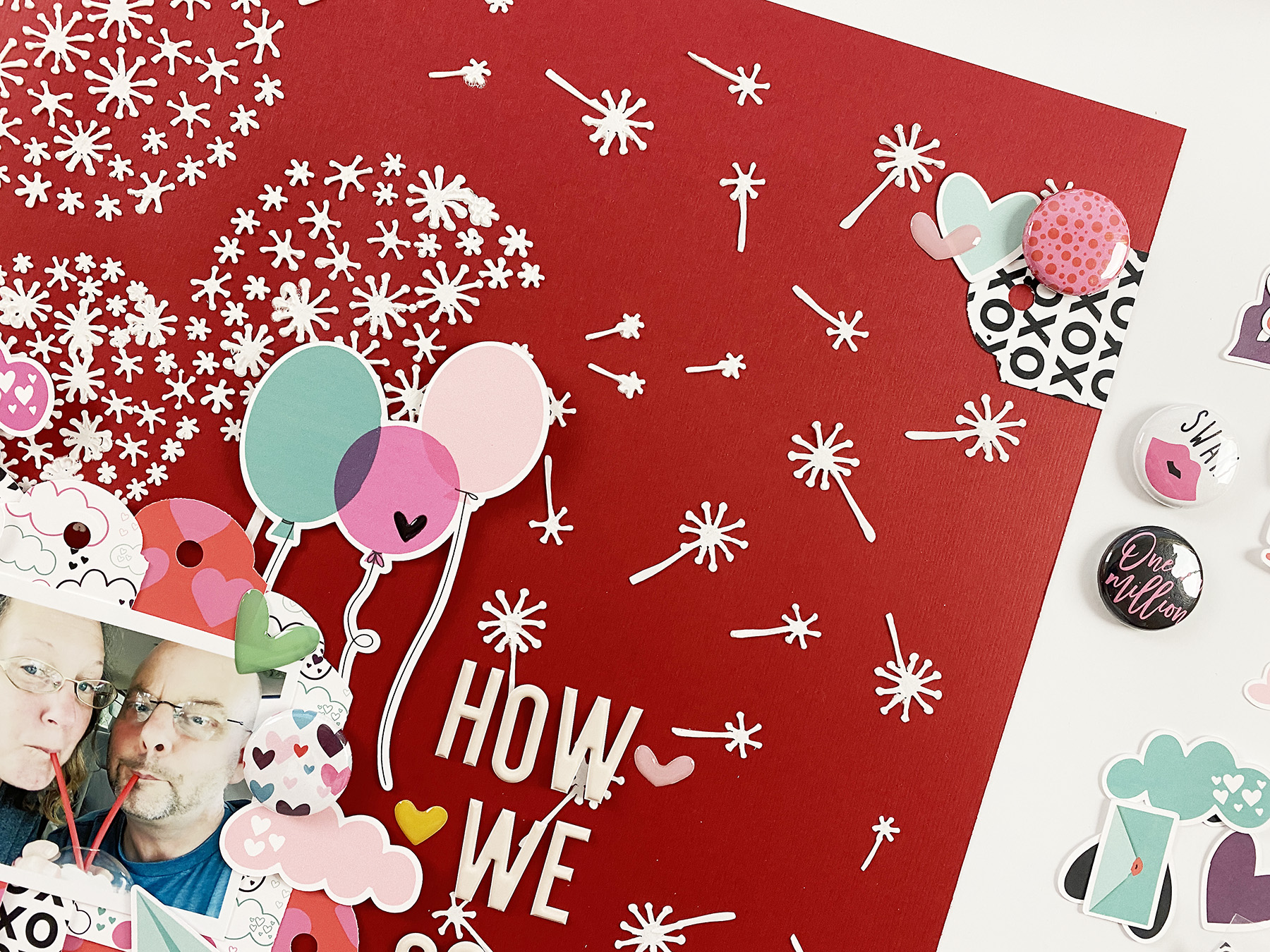 Theresa Moxley Valentines Day Inspired Layout | How We Coped