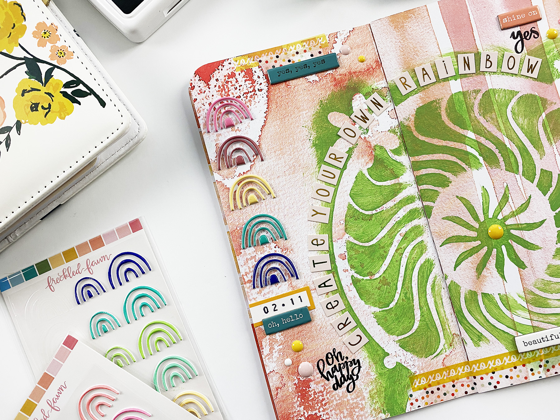 Art Journal With Me | Create Your Own Rainbow