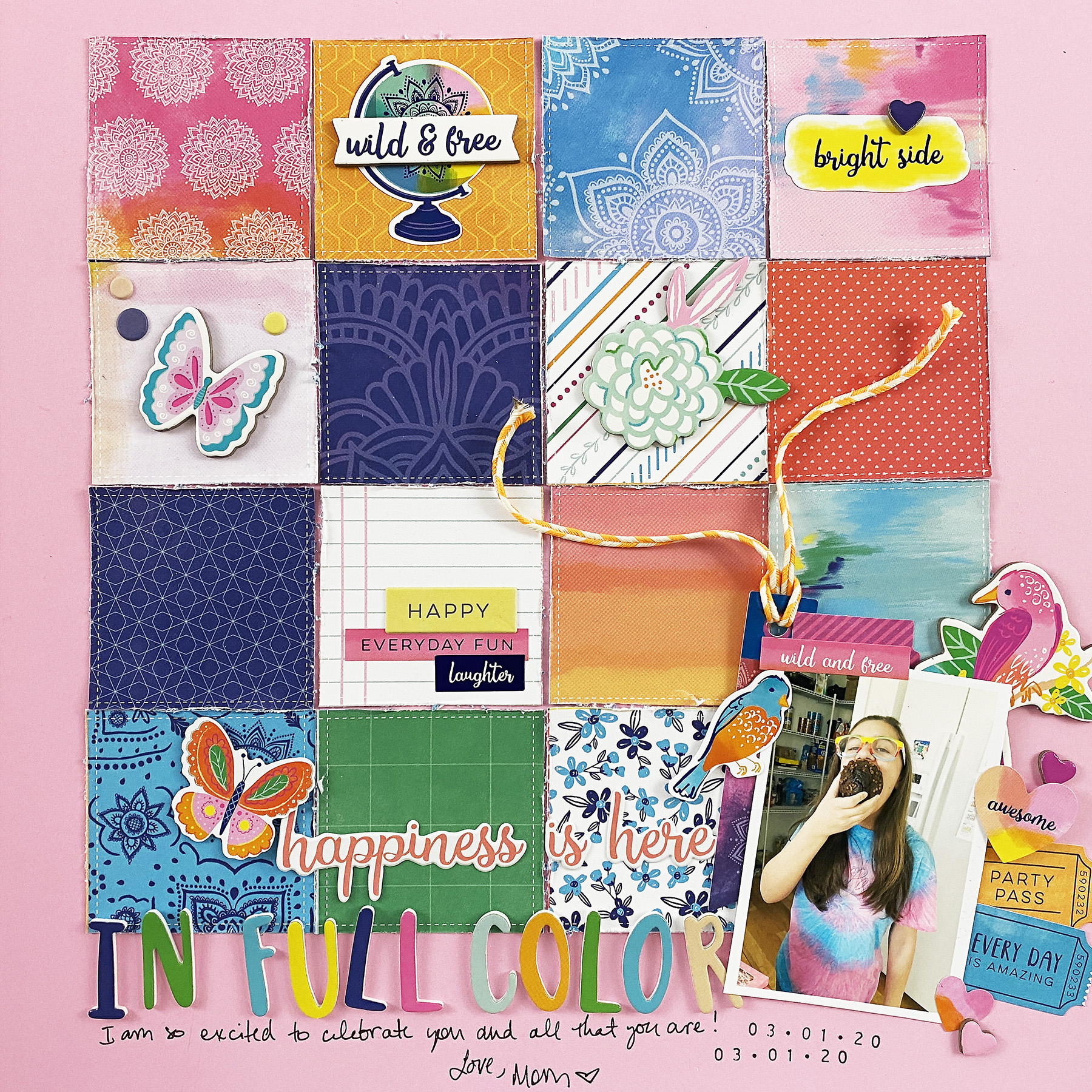 Kids Scrapbook Layout | Natalie Edition In Full Color