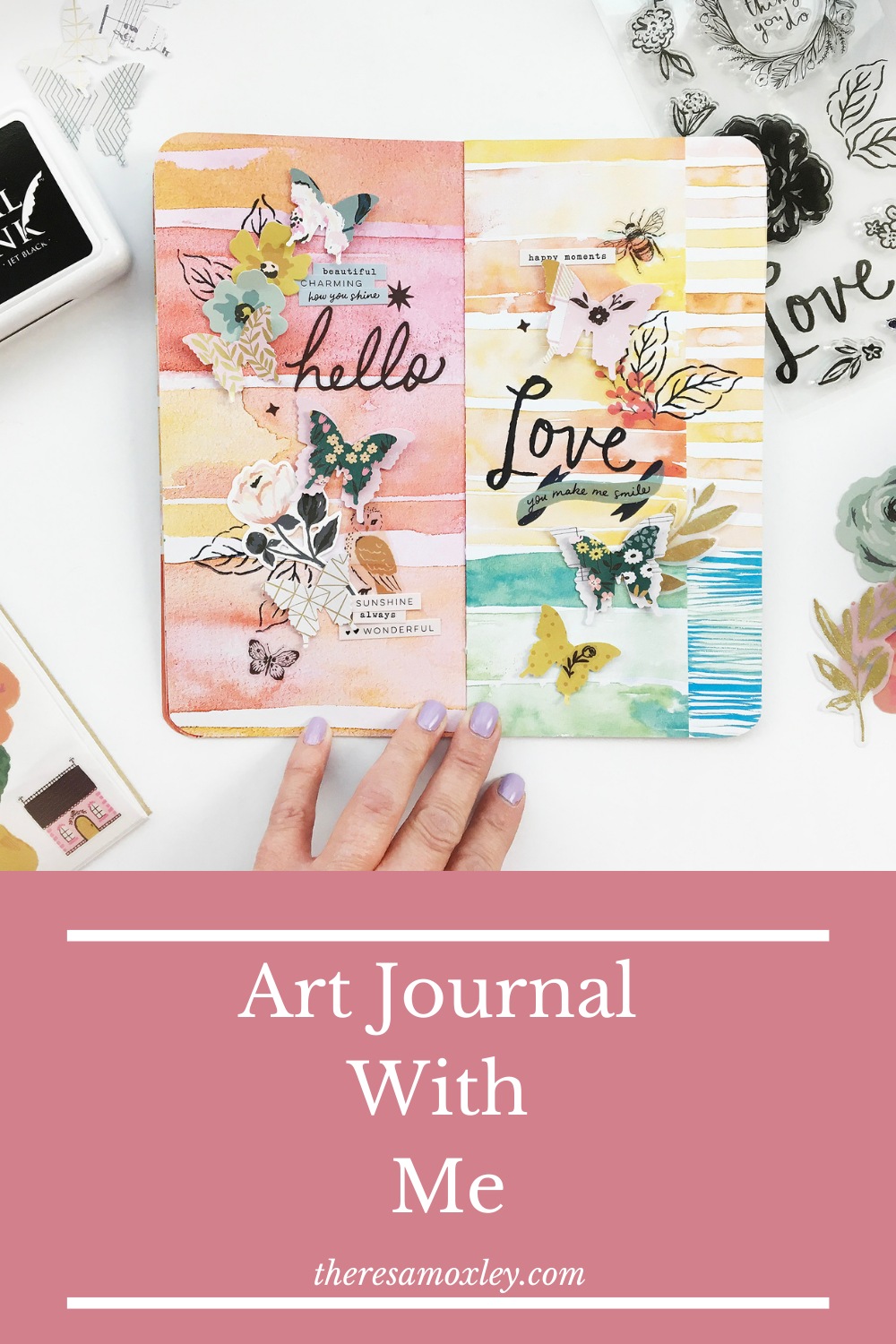 Art Journal With Me | Hello Love ft Maggie Holmes Marigold