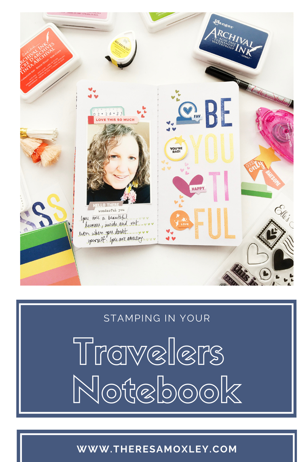 Theresa Moxley Travelers Notebook Layout | BeYouTiFul ft Elles Studio
