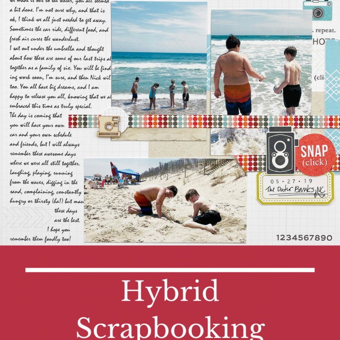 Theresa Moxley Sahlin Studio Design Team   The Outer Banks Hybrid Scrapbook Layout