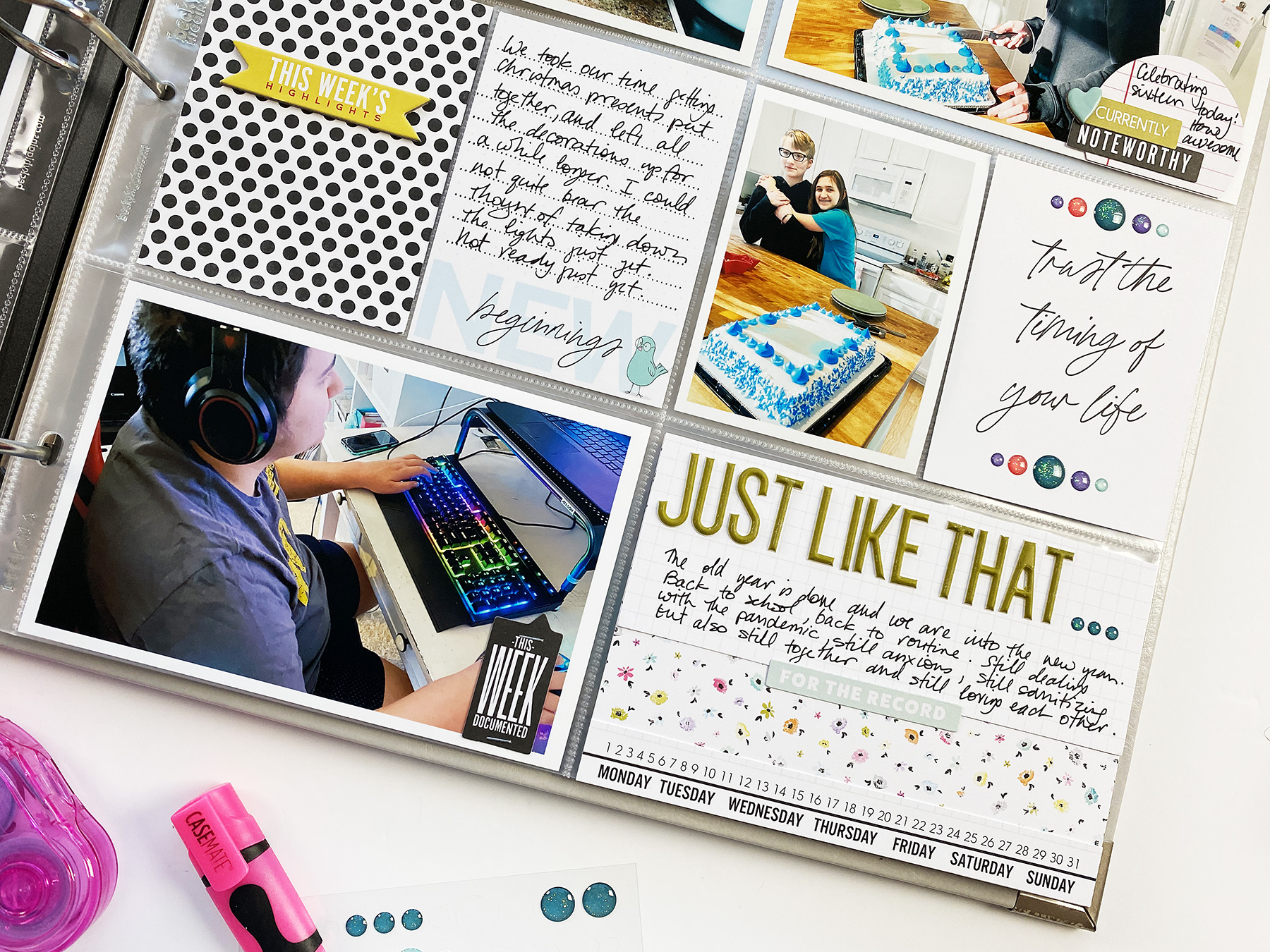 Theresa Moxley Project Life 2021 | January Bi Monthly 01 ft. Cocoa Daisy