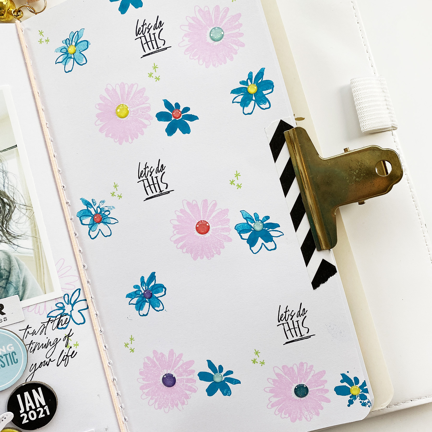 Travelers Notebook Layout | Lets Do This ft. Cocoa Daisy New Chapter Kit