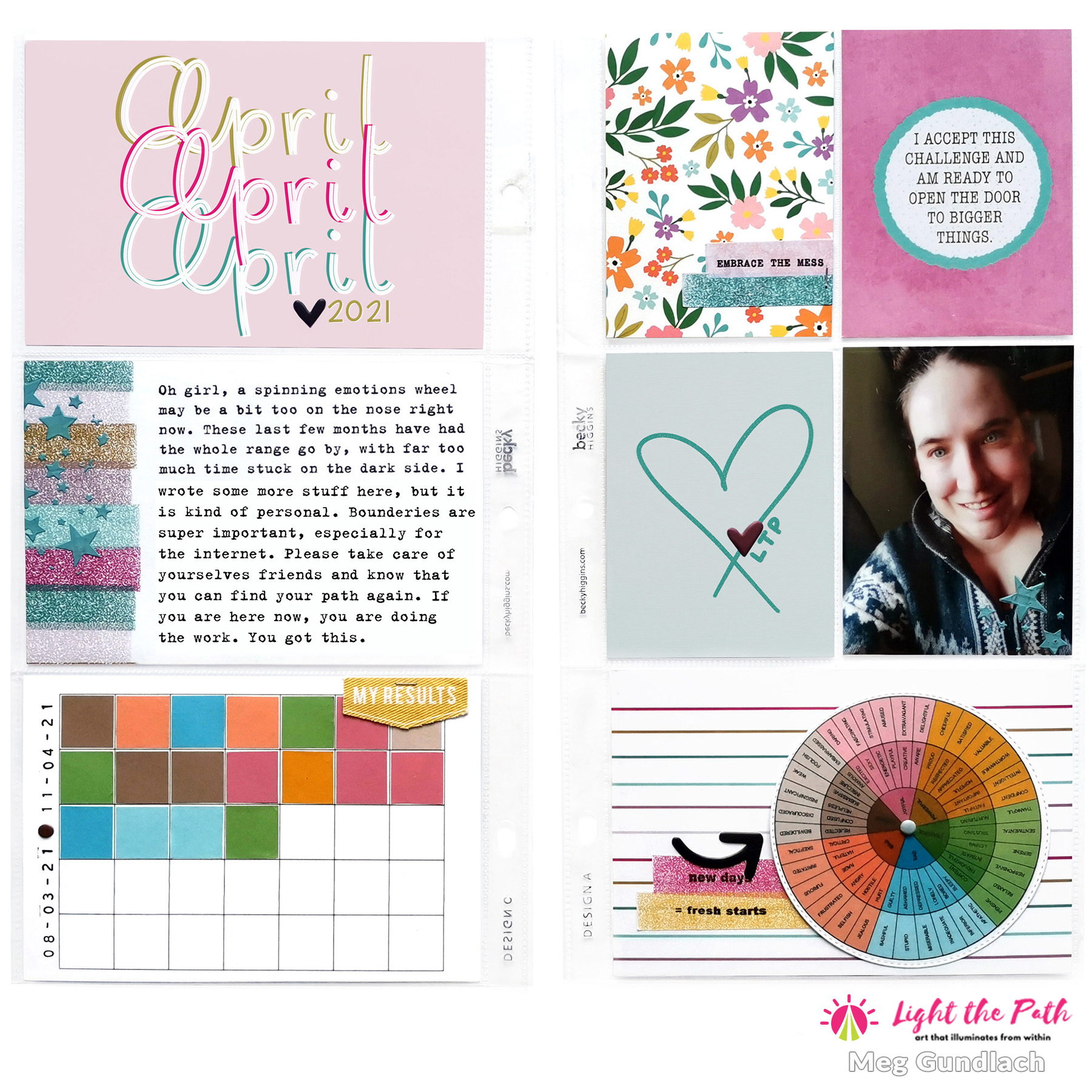Light The Path Design Team 2021 Meg Gundlach | April Prompt Honor Your Emotions