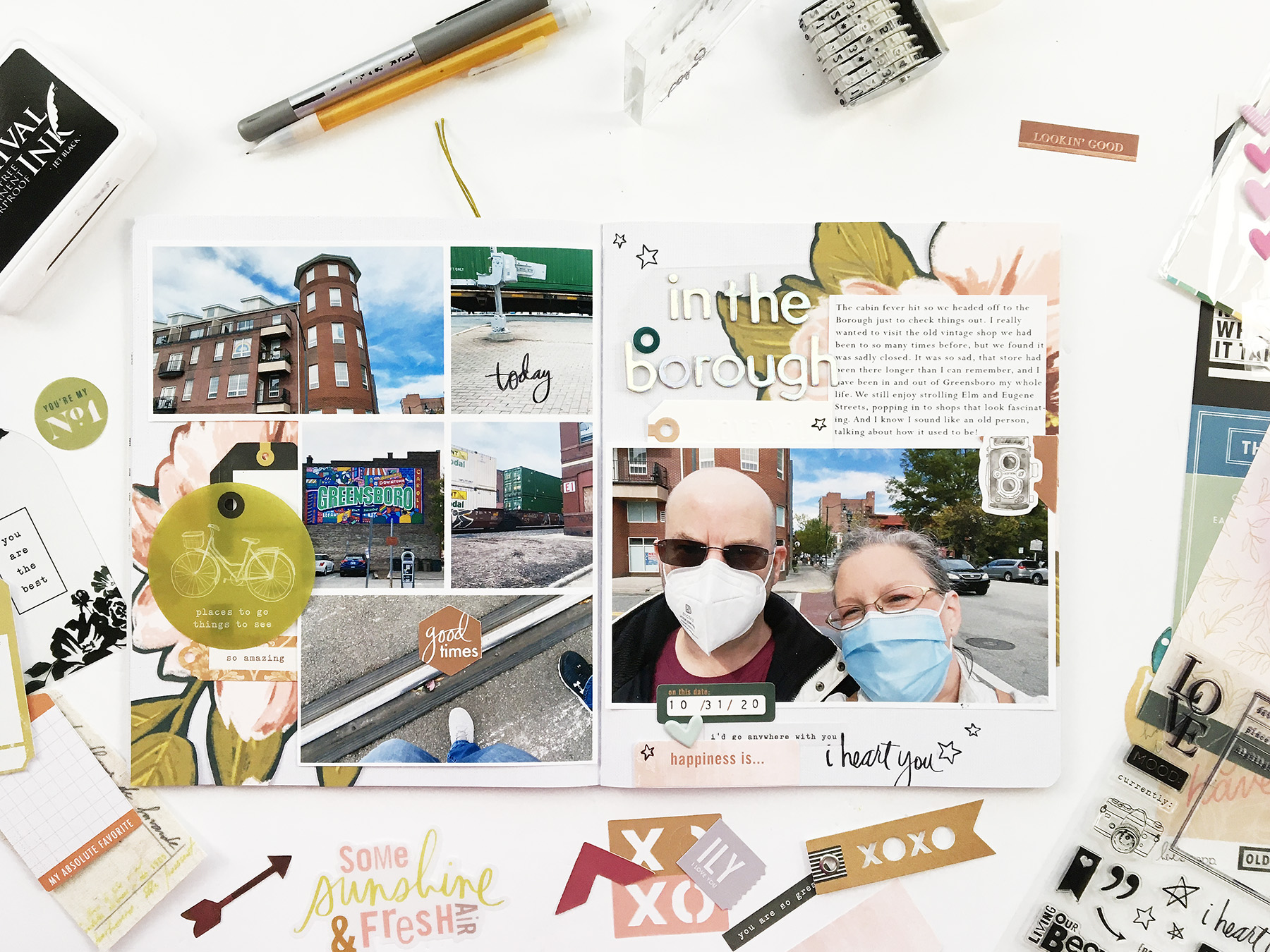Theresa Moxley Storyline Layout | In The Borough ft Heidi Swapp Honey And Spice