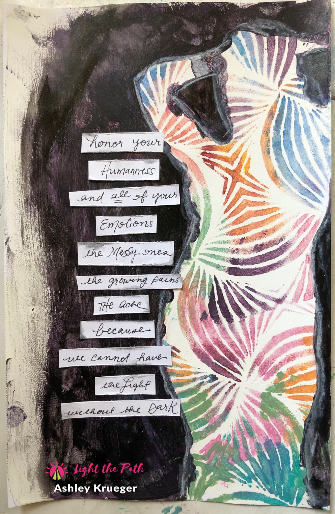 Light The Path 2021 Design Team Ashley Krueger April Emotions Art Journal