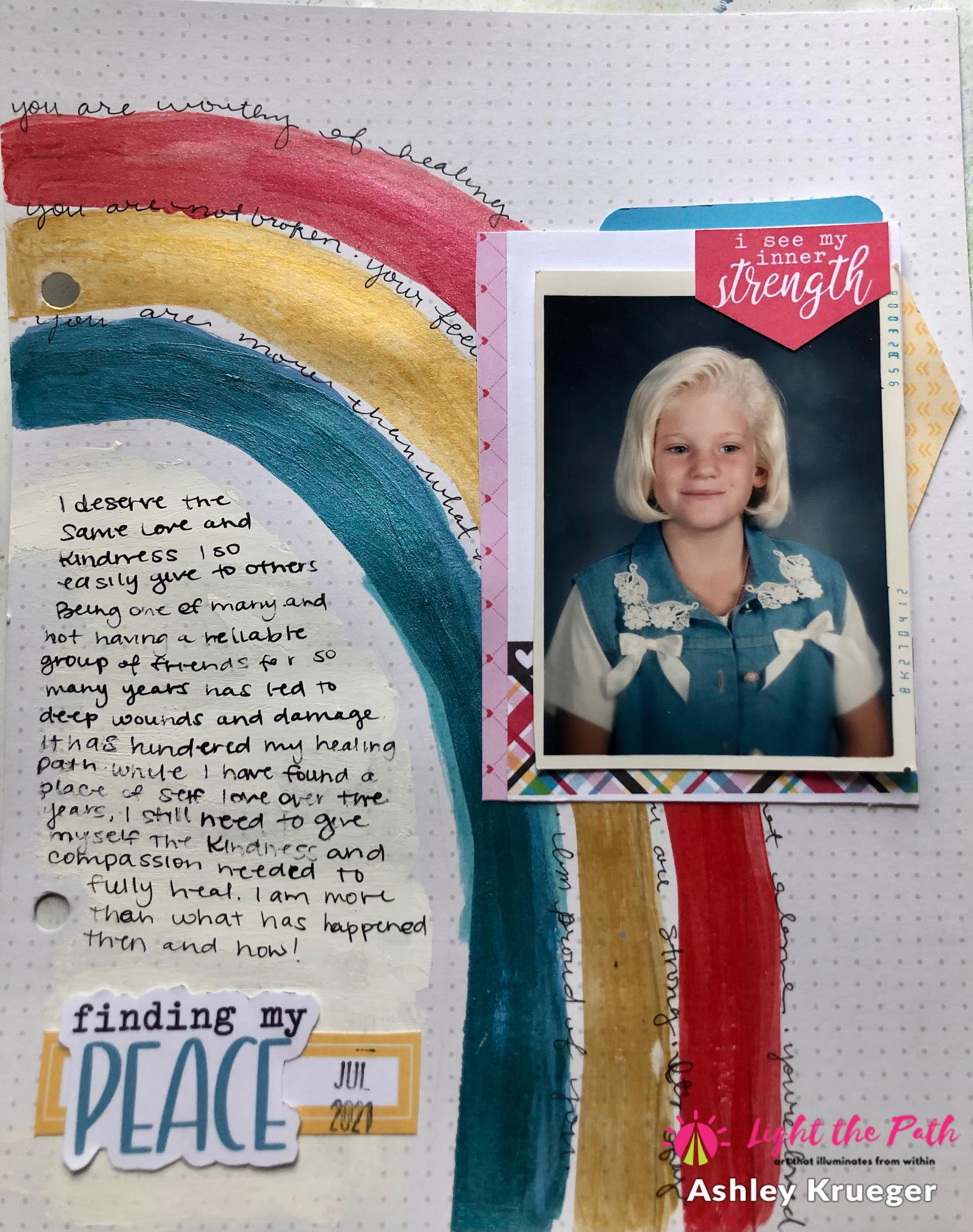 Light The Path 2021 Design Team Ashley Krueger July Inner Child Art Journal
