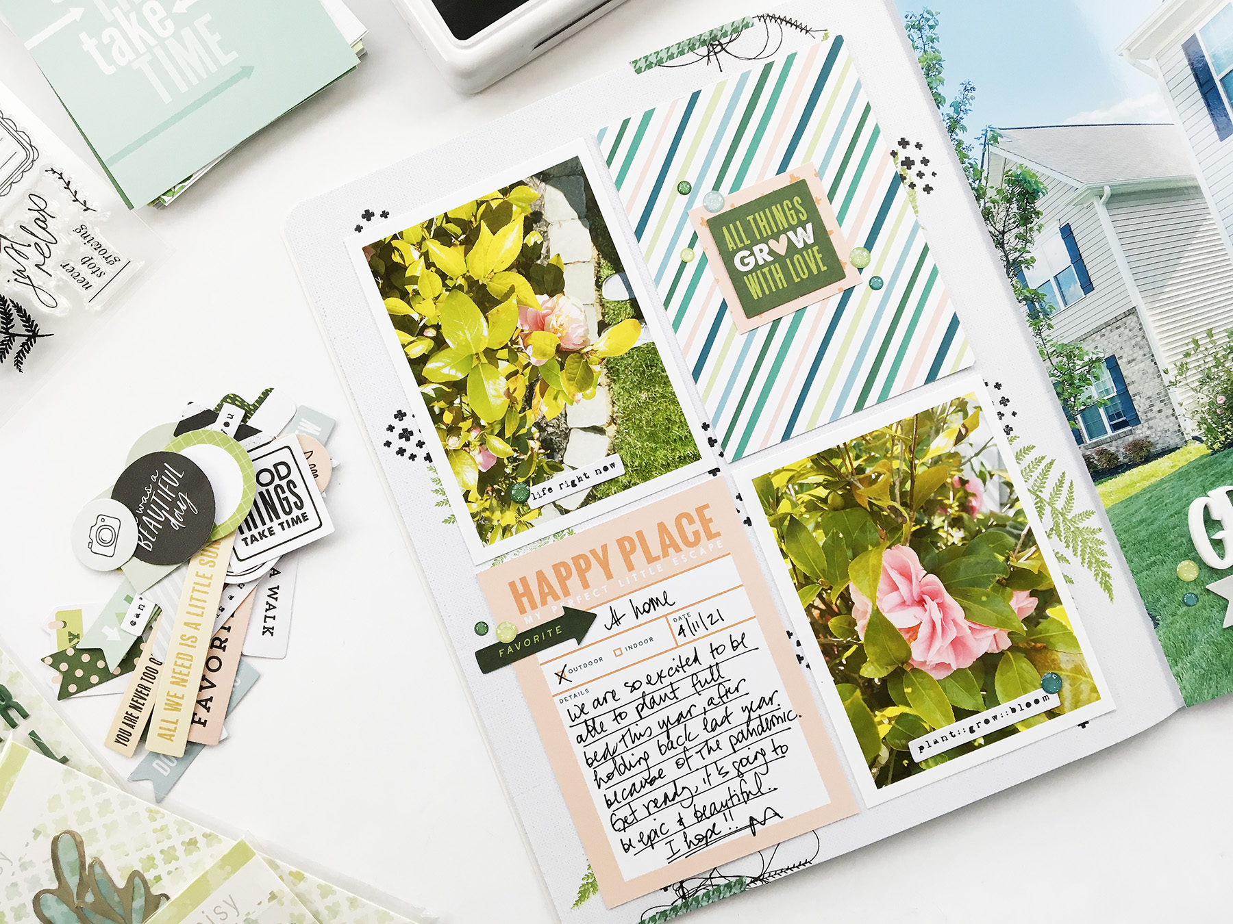 Theresa Moxley Storyline Album Layout   Grow
