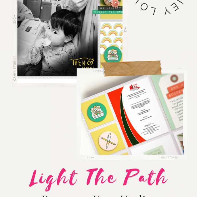 Light the Path 2021 Design Team Zakirah Zakaria | Then and Now