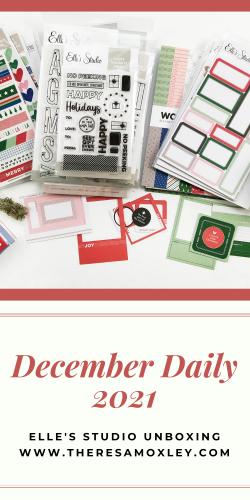 December Daily 2021   Elles Studio Document December Unboxing