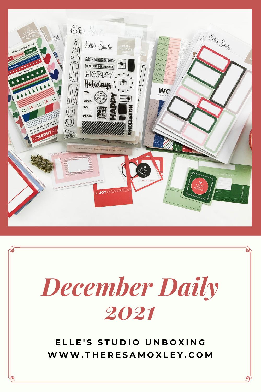 December Daily 2021 | Elles Studio Document December Unboxing